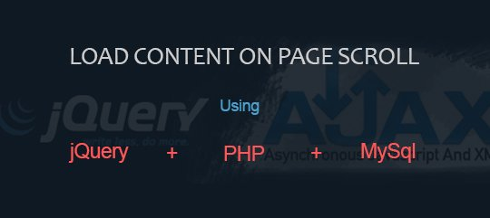 Auto load the content on page scroll